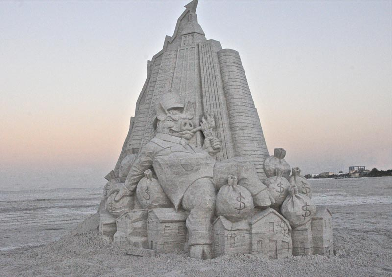 Ft Myers Beach Sand Sculpting
