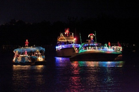 Christmas, Fort Myers Beach, boat, parade